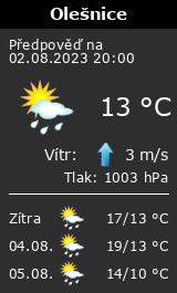 Počasí Olešnice v Orlických horách - Slunečno.cz