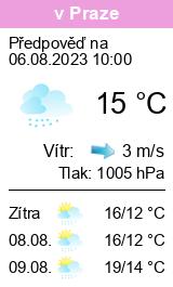 PoÄŤasĂ Praha - BÄ›chovice - SluneÄŤno.cz