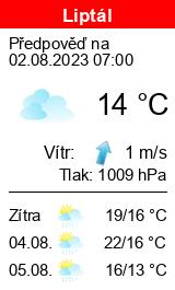 Počasí Liptál - Slunečno.cz