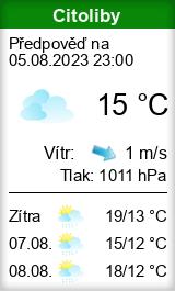 Počasí Citoliby - Slunečno.cz