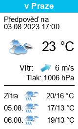 Počasí Kamenický Šenov - Slunečno.cz