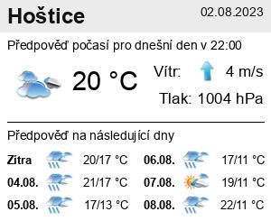 Počasí Hoštice (okres Kroměříž) - Slunečno.cz