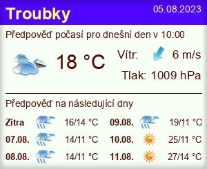 Počasí Troubky (Přerov) - Slunečno.cz