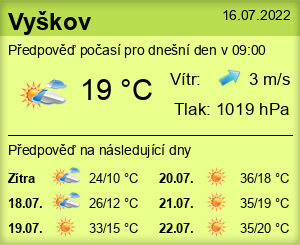 Počasí Vyškov - Slunečno.cz