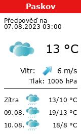 Počasí Paskov - Slunečno.cz