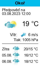 Počasí Okoř - Slunečno.cz