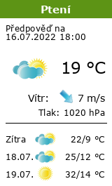 Počasí Ptení - Slunečno.cz