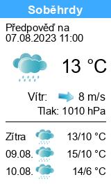 Počasí Soběhrdy - Slunečno.cz