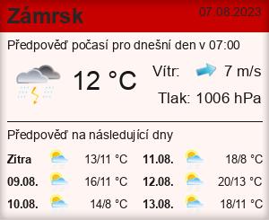Počasí Zámrsk - Slunečno.cz
