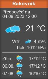 Počasí Rakovník - Slunečno.cz