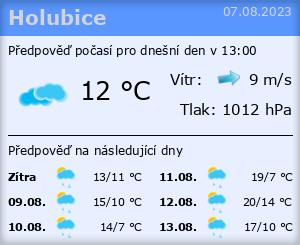 Počasí Holubice - Slunečno.cz