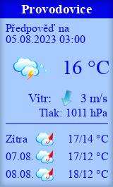 Počasí Provodovice - Slunečno.cz
