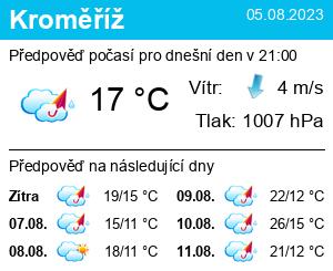 Počasí Kroměříž - Slunečno.cz