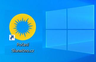 Počasí Slunečno.cz jako aplikace pro Windows