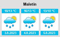 Počasí Maletín - Slunečno.cz