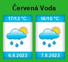 Počasí Červená Voda - Slunečno.cz