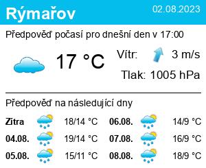 Počasí Rýmařov - Slunečno.cz