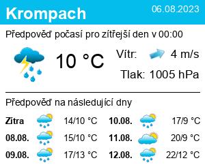 Počasí Krompach - Slunečno.cz