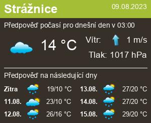 Počasí Strážnice - Slunečno.cz