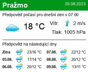 Počasí Pražmo - Slunečno.cz