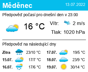 Počasí Měděnec - Slunečno.cz