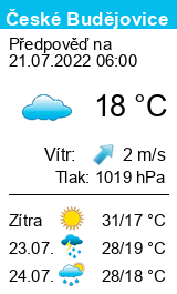 Počasí České Budějovice - Slunečno.cz