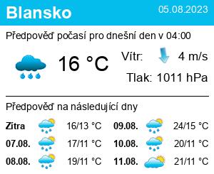 Počasí Blansko - Slunečno.cz