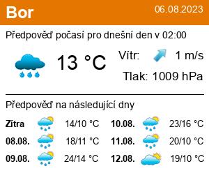 Počasí Bor - Slunečno.cz
