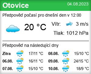 Počasí Otovice (okres Karlovy Vary) - Slunečno.cz