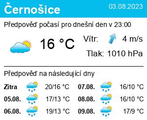 Počasí Černošice - Slunečno.cz