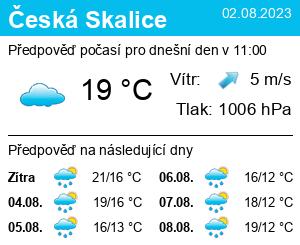Počasí Česká Skalice - Slunečno.cz