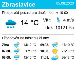 Počasí Zbraslavice - Slunečno.cz