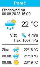 Počasí Poreč - Slunečno.cz