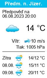 Počasí Předměřice nad Jizerou - Slunečno.cz