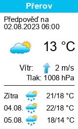 Počasí Přerov - Slunečno.cz