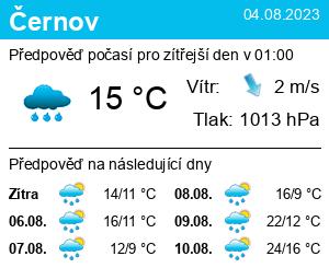 Počasí Černov - Slunečno.cz