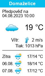 Počasí Domaželice - Slunečno.cz
