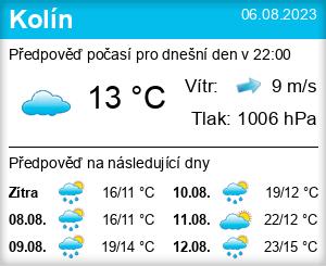 Počasí Kolín - Slunečno.cz