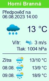 Počasí Horní Branná - Slunečno.cz