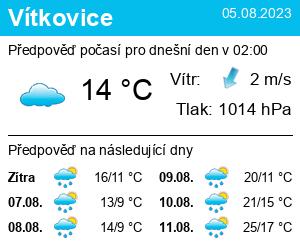 Počasí Vítkovice - Slunečno.cz