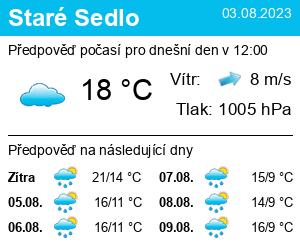 Počasí Staré Sedlo - Slunečno.cz