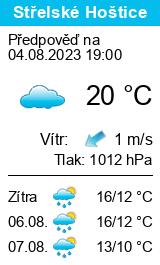 Počasí Střelské Hoštice - Slunečno.cz
