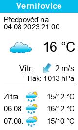 Počasí Vernířovice - Slunečno.cz