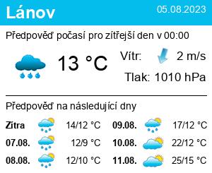 Počasí Lánov - Slunečno.cz