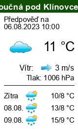 Počasí Loučná pod Klínovcem - Slunečno.cz