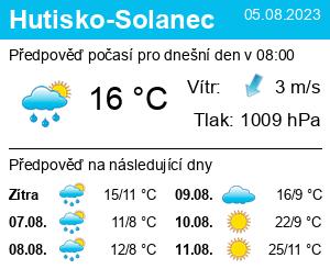 Počasí Hutisko-Solanec - Slunečno.cz