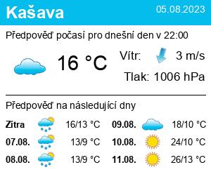 Počasí Kašava - Slunečno.cz