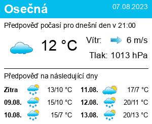 Počasí Osečná - Slunečno.cz