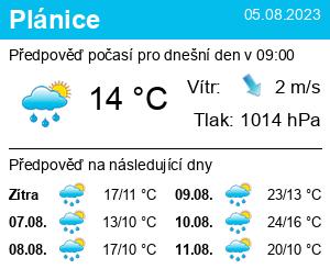Počasí Plánice - Slunečno.cz