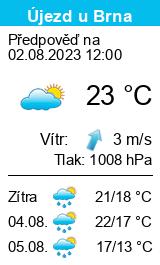 Počasí Újezd u Brna - Slunečno.cz